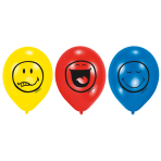 6 Latex Balloons Smiley Express Yourself 22.8 cm/9''