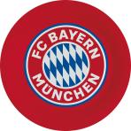 8 Plates FC Bayern München Round Papier 23 cm
