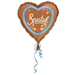 Standard Spatzl Foil Balloon Heart S40 Packaged 43 cm