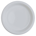 10 Plates Clear Plastic Round 22.8 cm