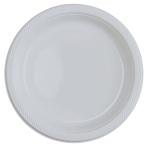 10 Plates Plastic Clear 22.8cm