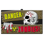 Vac Formed Sign Zombies 43.8 x25 cm