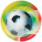 8 Plates Soccer Party 23 cm