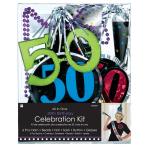Party Kit 50th Birthday Paper / Plastic / Foil 6 Pieces 73.4 x 7.2 cm / 26.5 cm