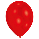 "50 Latex Balloons Standard Red 27.5 cm / 11"""