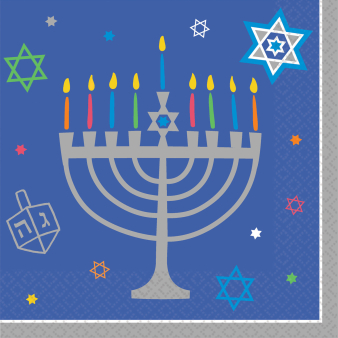 36 Napkins Eight Happy Nights Hanukkah 25 x 25 cm
