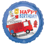 Standard First Responder Happy Bday Foil Balloon S40 Packaged 43 cm