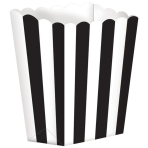 5 Treat Boxes Stripes Black 9.5 x 13.5 cm