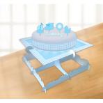 Cake Decorating Kit Christening Booties - Blue