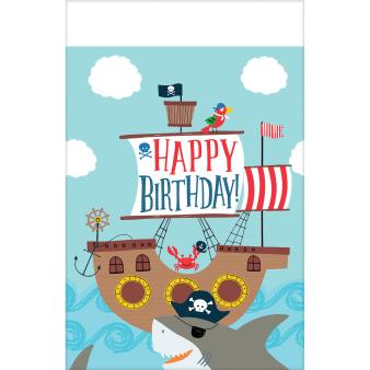 Tablecover Ahoy Birthday Plastic 137 x 243 cm