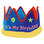 Crown It's My Birthday Fabric 57.7 x 13.9 cm
