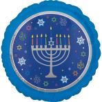 Standard Eight Happy Nights Hanukkah Foil Balloon, S40 packaged