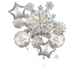 Bouquet Shining Snow Foil Balloon, P75 packaged