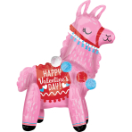 Multi BalloonStanding Valentine Llama Foil Balloon A75 packaged 45 cm x 55 cm