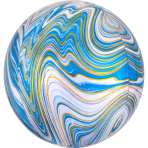Marblez Blue Foil Balloon G20 packaged