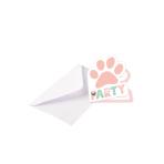 8 Invitations & Envelopes Hello Pets Paper 8 x 14 cm