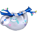 Supershape Mommy and Baby Sloth Foil Balloon P35 packaged
