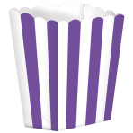 5 Treat Boxes Stripes New Purple 9.5 x 13.5 cm