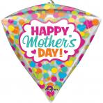 "Diamondz ""HMD Dots & Hearts"" Foil Balloon Clear, G20, packed, 38 x 43cm"