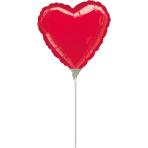 9'' Red Heart Foil Balloon Heart A10 Flat 23 cm