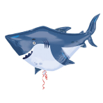 SuperShape Ocean Buddies Shark Foil Balloon, P35, packed, 101x81 cm