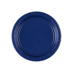 8 Plates Paper Navy Flag Blue 17.7 cm