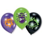 "6 Latex Balloons Halloween Kids 22.8 cm / 9"""