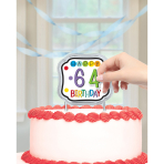 Cake Decoration Happy Birthday Personalizable 11.4 x 12.9 mm