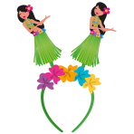 Head Band Hula Girl Plastic / Paper / Fabric