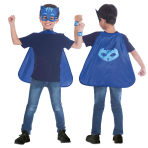 Child Costume PJ Masks Catboy Cape Set Age 4 - 8 Years