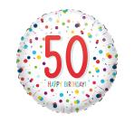 Standard EU Confetti Bday 50 Foil Balloon S40 packaged