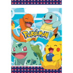 8 Party Bags Pokemon Plastic 23.4 x 16.2 cm