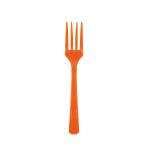 20 Forks Orange Peel Plastic 15.7 cm