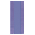 25 Small Plastic Party Bags New Purple 24 x 10 cm