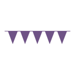 Pennant Banner New Purple Plastic 1000 x 32 cm