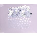 Confetti Sparkle Hearts Silver Foil 14 g