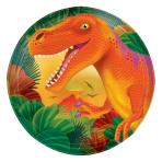 8 Plates Prehistoric Party 17.7 cm