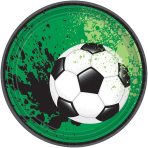 8 Plates Goal Getter Round Paper 18 cm