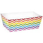 24 Snack Trays Paper Minis rainbow 11,4 x 6,6 x 4,1cm