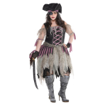 Adult Costume Haunted Pirate Wench Size XXL