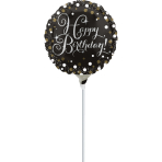 "9"" ""Sparkling Birthday"" Foil Balloon A15 Airfilled 23cm"