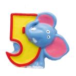 Numeral Candle 5 Safari