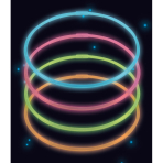4 Glow Necklaces Assorted Plastic 56 cm
