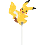 "Mini Shape ""Pikachu"" Foil Balloon, A30, bulk, 30 x 30cm"