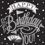 36 Napkins Hooray It's Your Birthday 25 x 25 cm