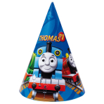 6 Party Cone Hats Thomas & Friends Paper Height 15.2 cm