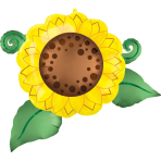 SuperShape Satin Infused Sunflower Foil Balloon P35 Packaged 76cm x 66cm