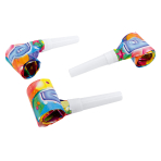 6 Blowouts Ballon Party 2 Plastic / Paper 30 cm