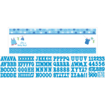 Foil Banner Shower With Love - Boy Personalizable 165 x 50.8 cm