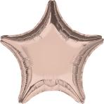 """Standard """"Rose Gold Decorator"""" Foil Balloon Star, S15, bulk, 45cm"""